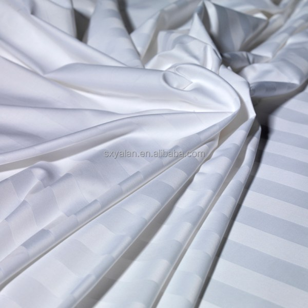 China Supplier Stripe Hotel Linen Fabric For Bed Sheet In ...