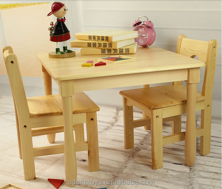 toys r us kids table and chairs herman miller aeron chair size b reviews square table+2chairs / writing montessori furniture solid wood child class ...