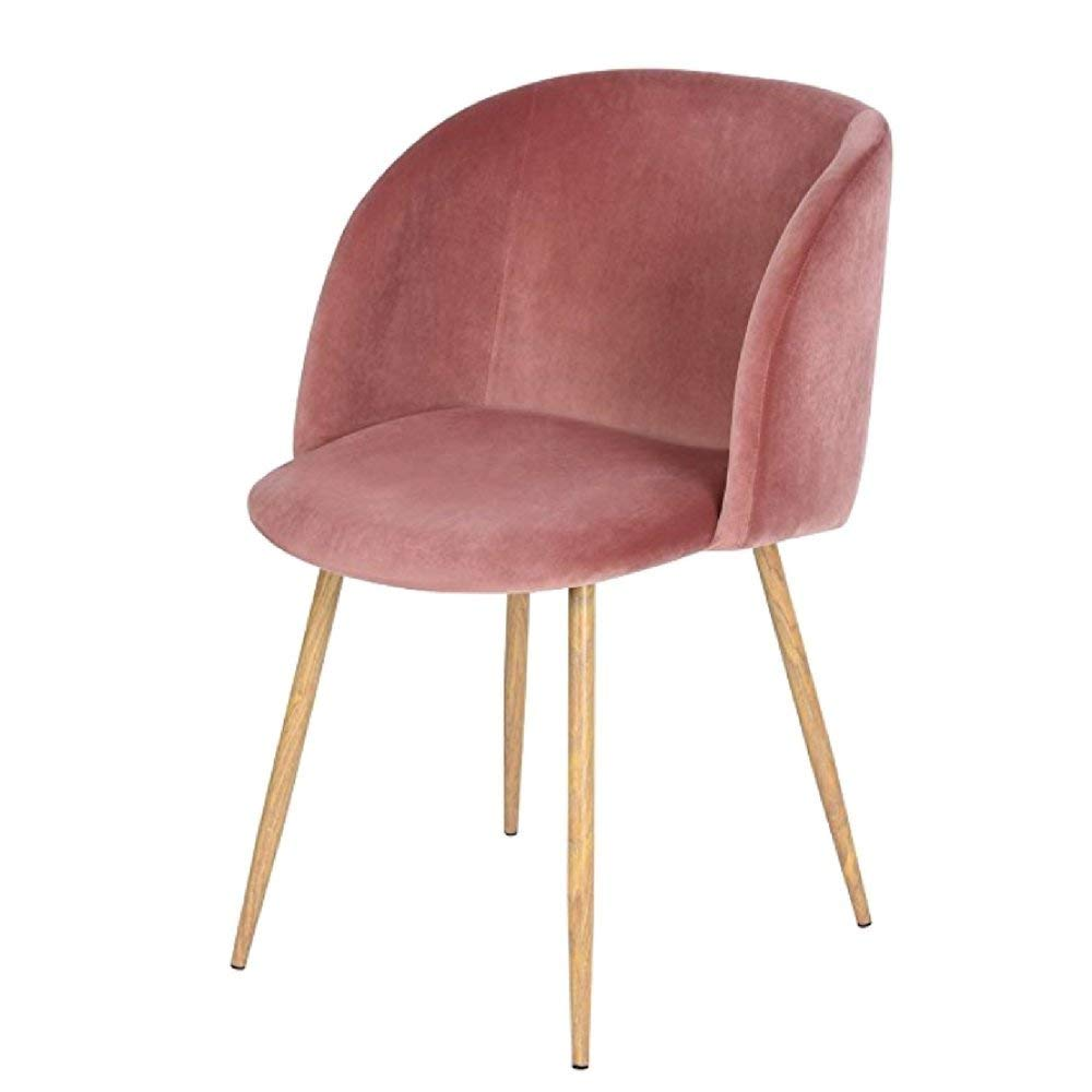 bedroom chair pink stool diy cheap find deals on line at mid century velvet accent living room rose modern retro design sturdy durable armrest with