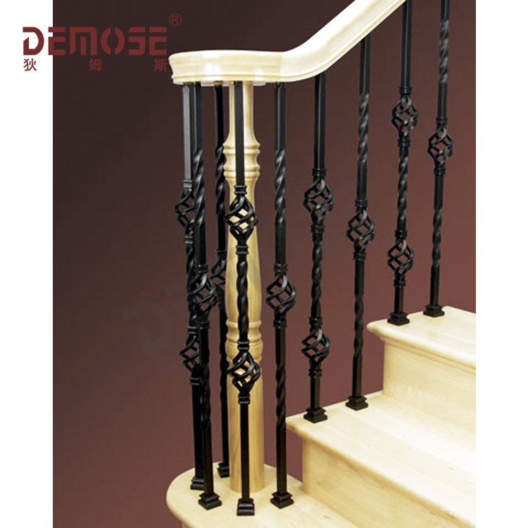 Indoor Stair Railing Iron Stair Balusters Custom Wrought Iron | Stair Rails For Sale | Metal | Cheap | Stainless | Minimalist | Hand