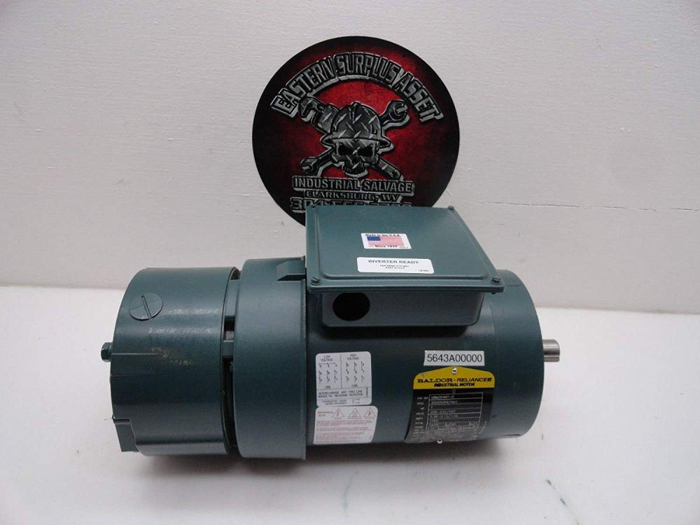 medium resolution of get quotations dodge baldor vbm3546t d 1hp 230 460 electric motor w dbsc 46bk brake
