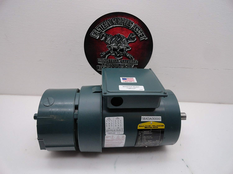 hight resolution of get quotations dodge baldor vbm3546t d 1hp 230 460 electric motor w dbsc 46bk brake