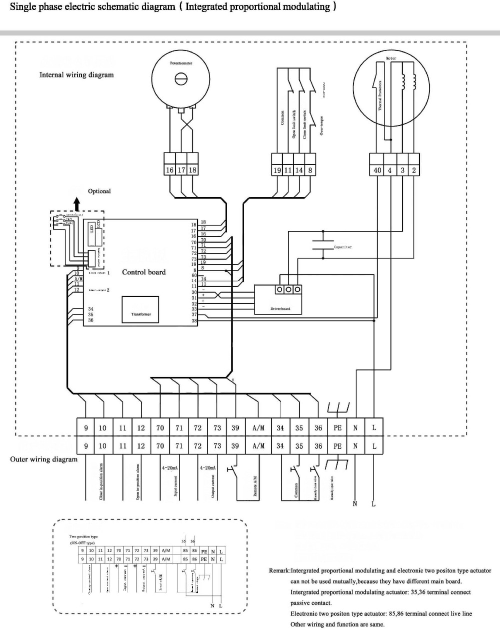 medium resolution of connection diagram of bs 60k30h electric regulating actuator for damper and butterfly valve