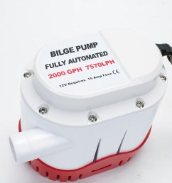get quotations amarine made automatic submersible boat bilge water pump 12v 2000gph auto with built in [ 1500 x 1000 Pixel ]
