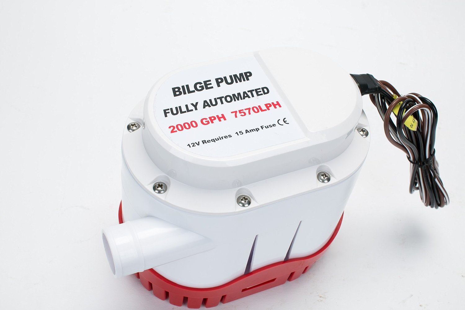 hight resolution of get quotations amarine made automatic submersible boat bilge water pump 12v 2000gph auto with built in