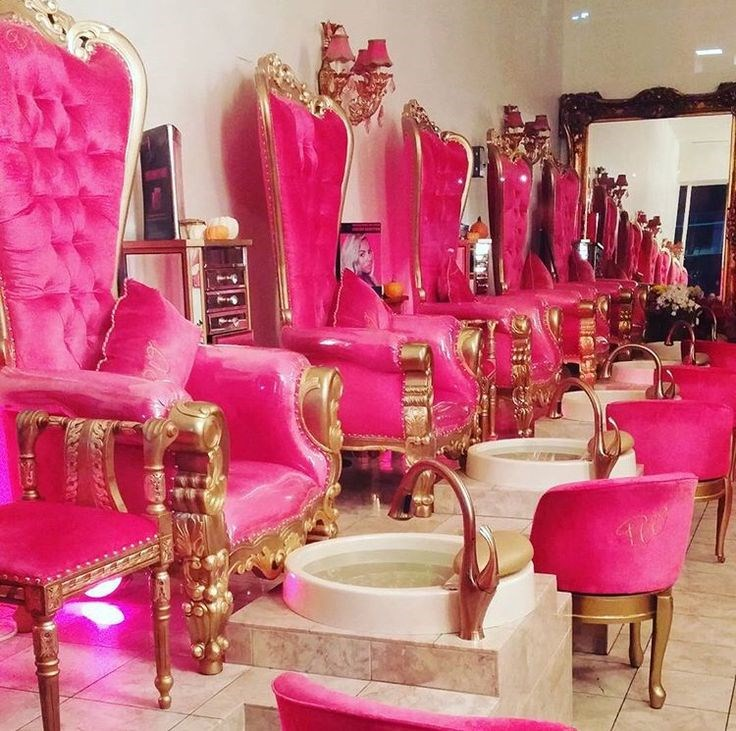 Bomacybest Price Pink Throne Kid Fabric Pedicure Spa