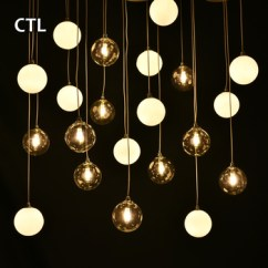 Hanging Pendant Light Living Room Ser European Decorative Glass Globe Bedroom Modern Lamp