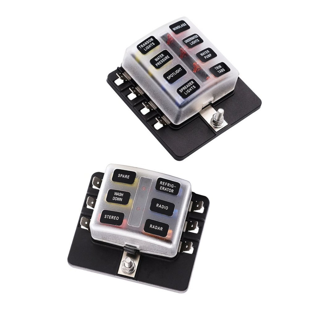 medium resolution of get quotations magideal 6 8 way circuit standard ato atc blade fuse box block holder pcb terminals