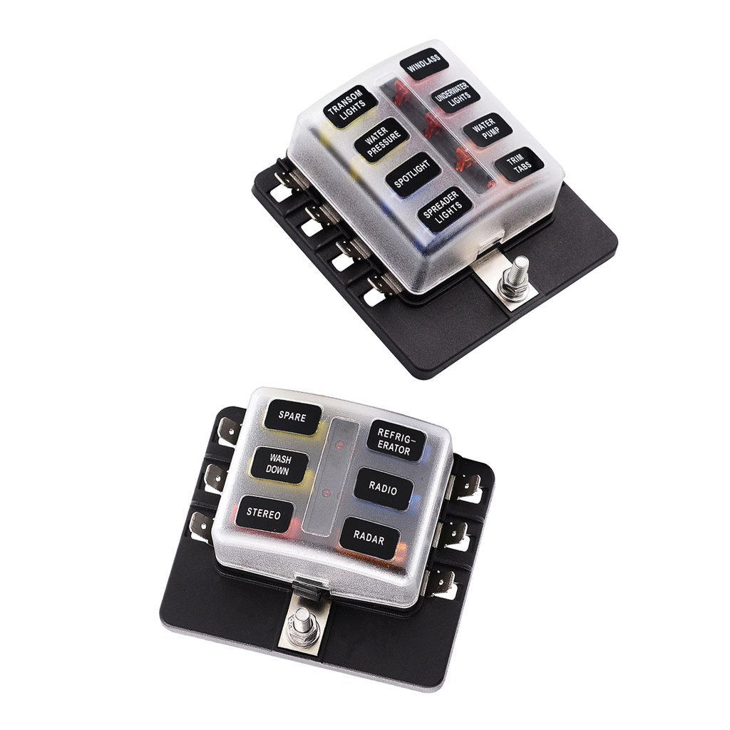 hight resolution of get quotations magideal 6 8 way circuit standard ato atc blade fuse box block holder pcb terminals