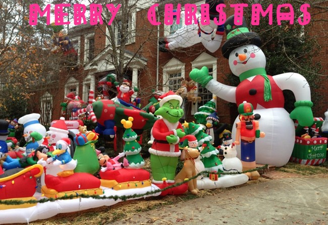 outdoor christmas decorations large lowes inflatables