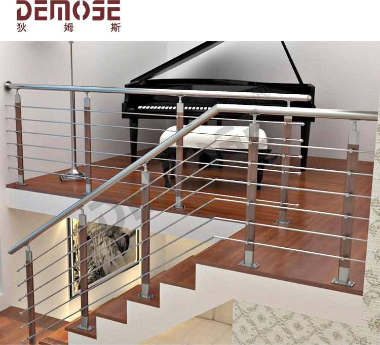 Modern House Galvanized Steel Pipe Stair Handrail For Elderly | Modern Stair Hand Railing | Creative Outdoor Stair | Wooden Stair | Decorative | Curved Metal | Diy Modern