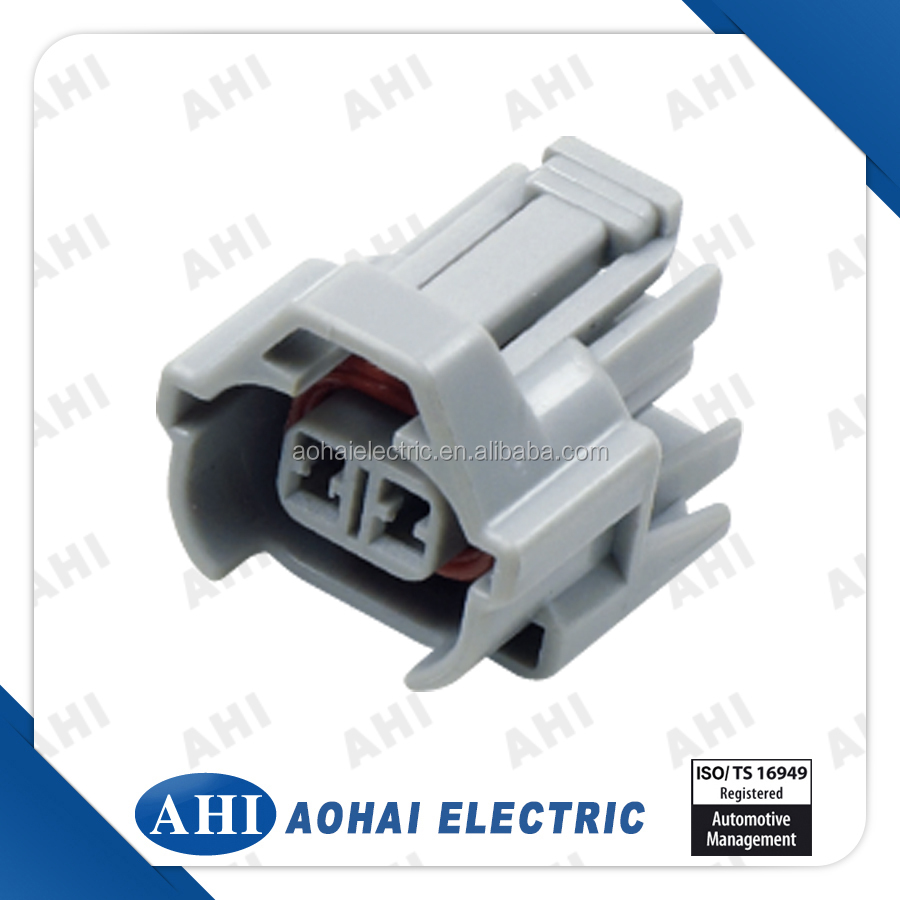 hight resolution of old car 2 pin female grey waterproof wiring harness plastic housing connector
