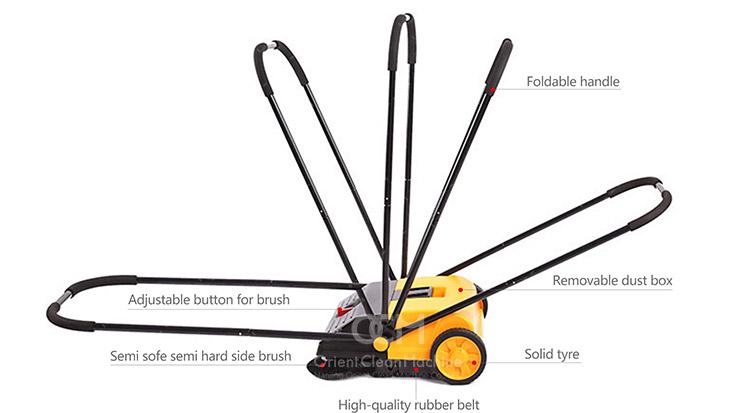 Manual Walk Behind Sweeping Machine Man Power Sidewalk
