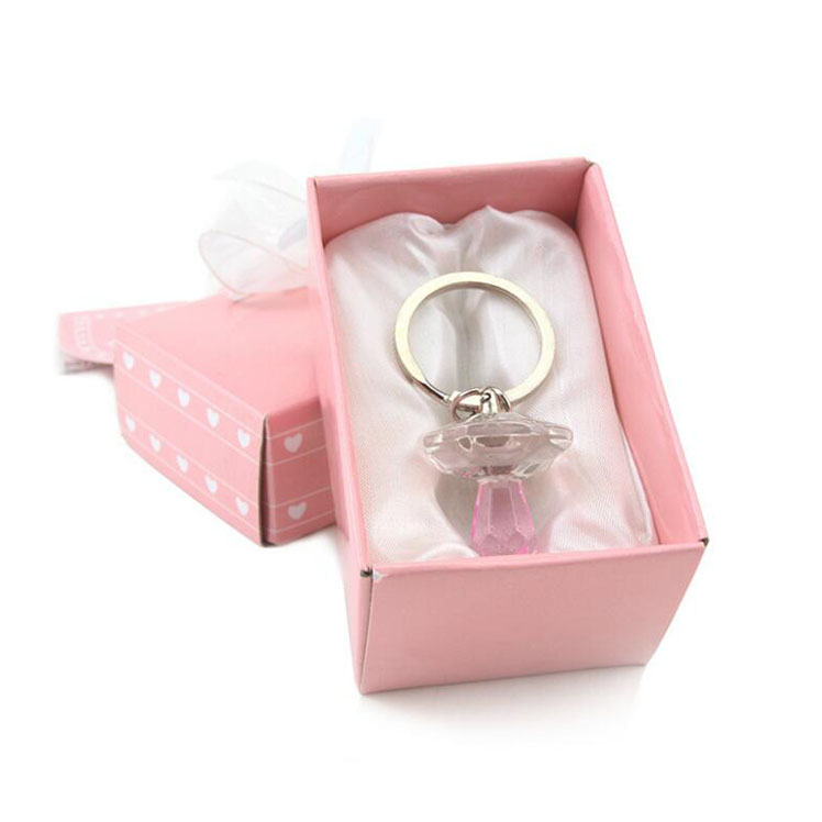crystal pacifier keychains baby