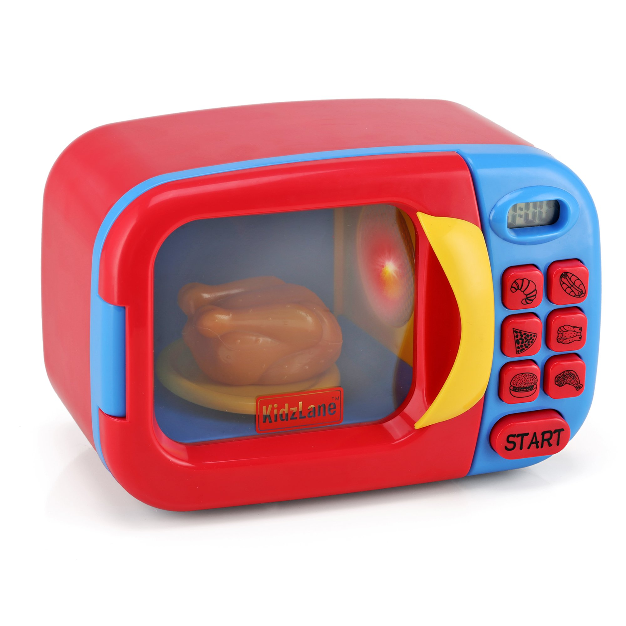 kids play kitchen accessories best flooring for a buy kidzlane microwave oven toy pretend