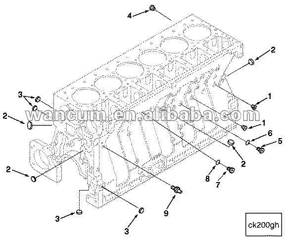 Cummins M11 Engine Parts Cummins M11 Expansion Plug