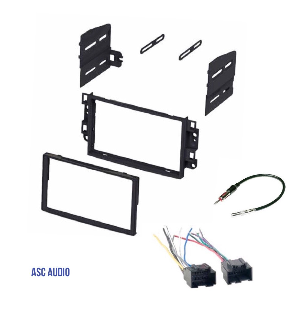 hight resolution of get quotations asc double din car stereo dash kit wire harness antenna adapter to install radio