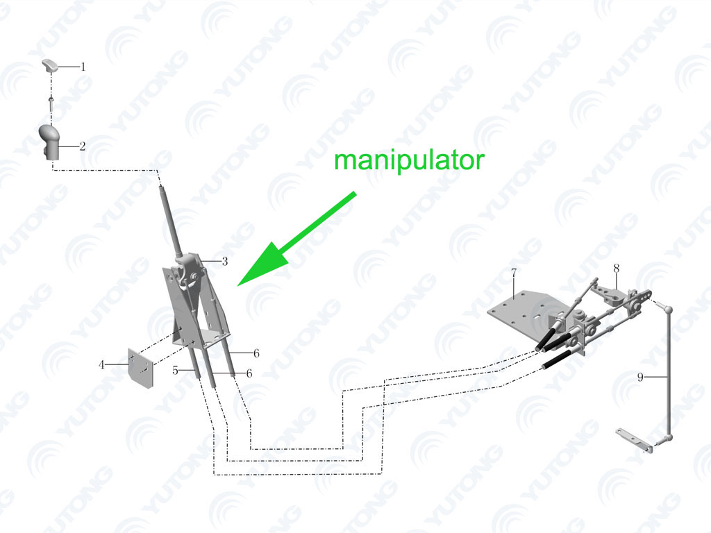 Hotsale Kinglong Bus Xmq Y Xmq Y Transmission Gearbox Front Manipulator View Xmq Y
