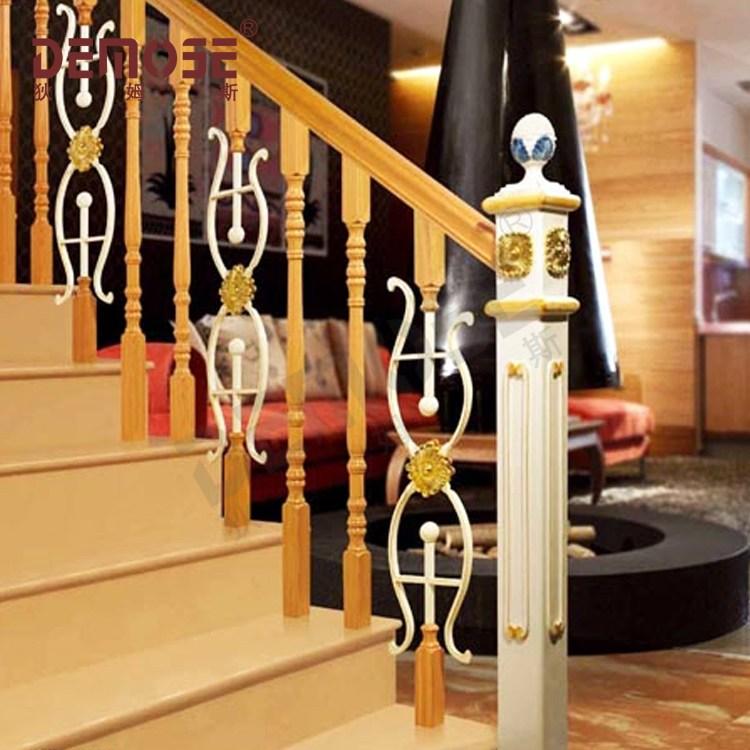 Residential Wrought Iron Stair Railing Balustrade Grill Design | Black Wrought Iron Stair Railing | Oak And Iron | Straight Line | Rectangular Iron | Walnut Iron | Steel Railing