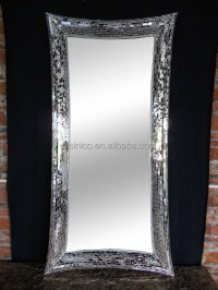 Rectangle Crackle Handmade Full Length Design Wall Mirror ...