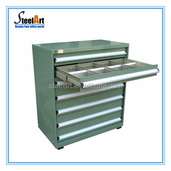 5 Drawers Metal Tool Storage Cabinet On Wheels