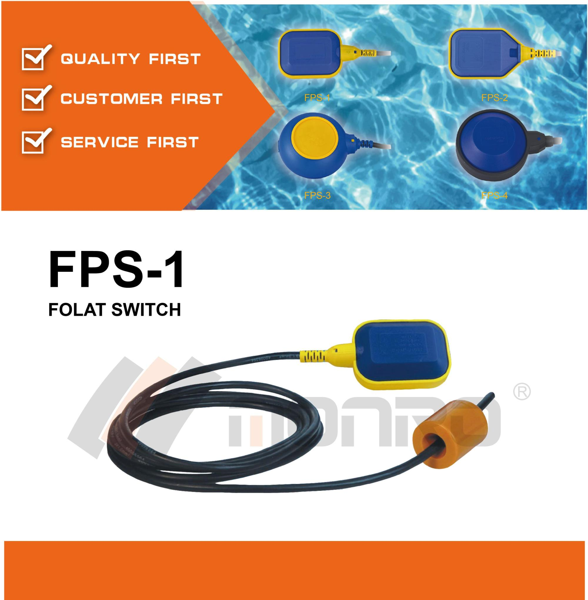 hight resolution of monro magnetic float switch water level controller with cable fps 1