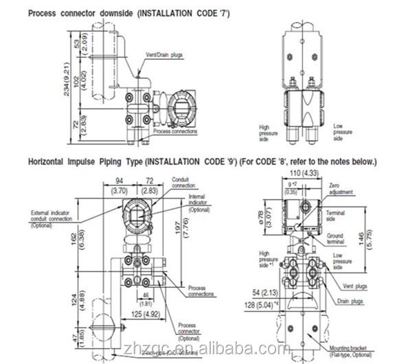 Original Import Yokogawa Eja110e Differential Pressure