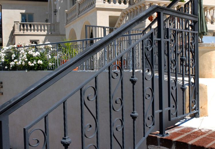 Residential Outdoor Balustrades Handrails Decorative Interior | Decorative Handrails For Outdoor Steps | Exterior Black Metal | Foldable | Single Post | Farmhouse | Solid Wood
