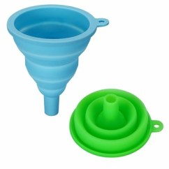 Kitchen Funnel Center Island Mini Silicone Cooking Tools Foldable Collapsible Threaded