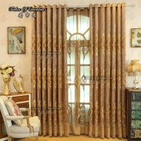 Latest Curtain Fashion Designs With Chenille Living Room ...