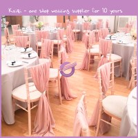 Ka153 Hot Sale Organza Chair Cover For Wedding Party Fancy ...