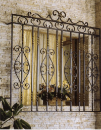 Beautiful High Quality Decorative Wrought Iron Window