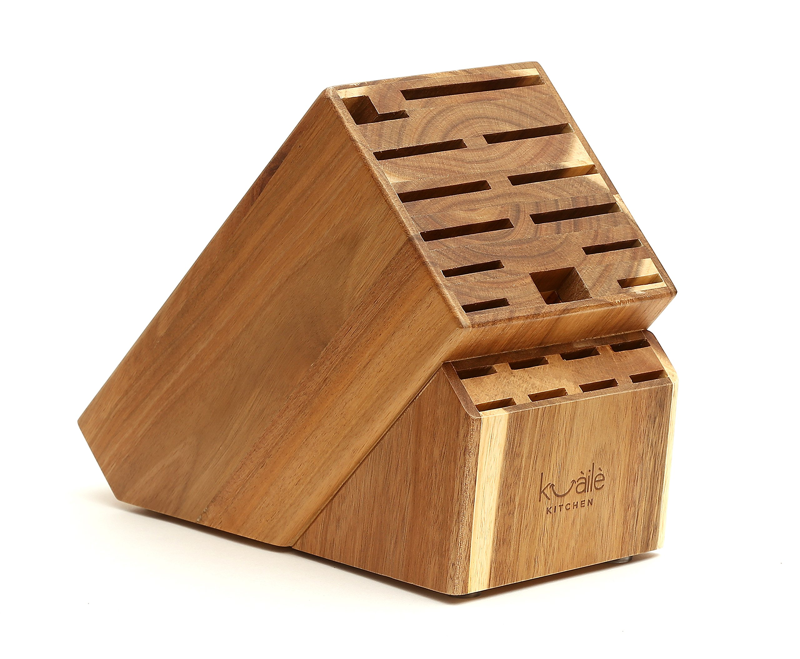 solid wood toy kitchen corner booth cheap play find deals on get quotations 21 slot universal knife storage block acacia without knives