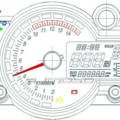 Digital Rpm Meter Wiring Diagram Starter Motor Relay Universal Tachometer Motorcycle Blue Lcd Backlight Electronic ...