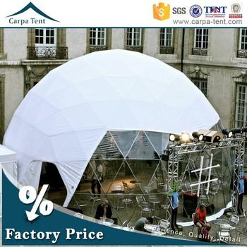 Waterproof Canvas Mobile Carport Canopy Tent 6m Diameter Sphere