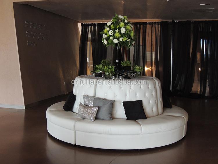 Wit leer ronde banquette sofahotel stoelenproductID
