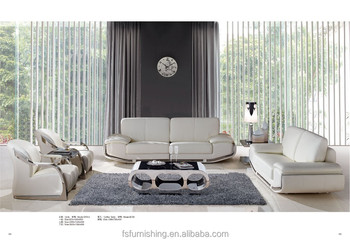 contemporary white living room furniture pieces fs012 modern color italy genuine thick leather post uk chesterfield salon