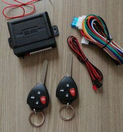 milano keyless entry system dubai with remote control lock and unlock trunk release parking light with led [ 1000 x 1000 Pixel ]