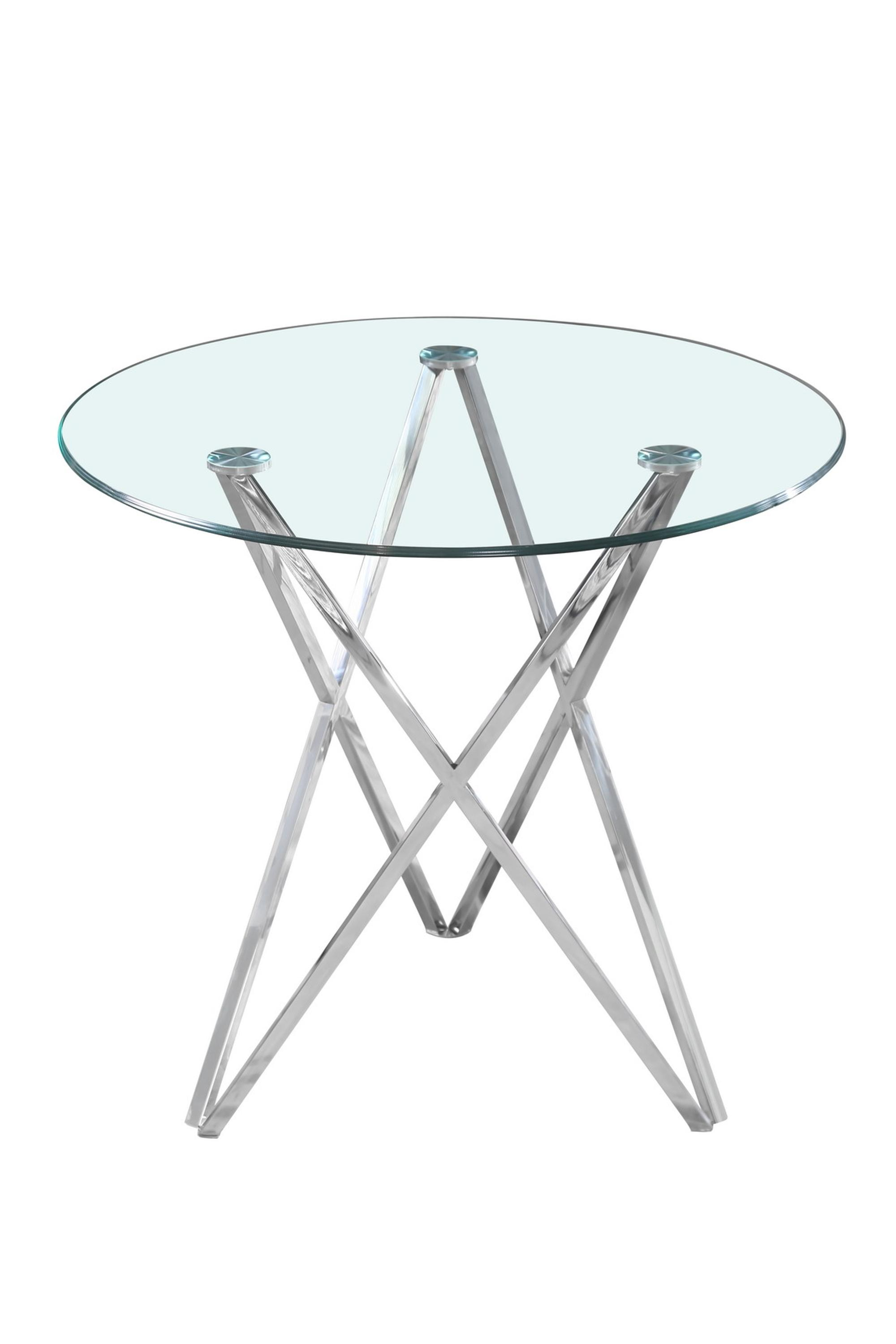 Round Tempered Glass Dining Table
