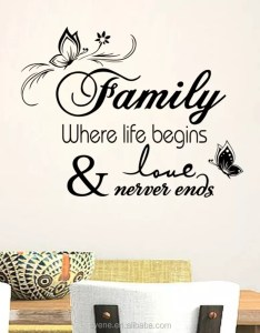 Wall art mirror sticker plastic flower chart paper decoration  vinyl quotes family where life also rh syene enibaba