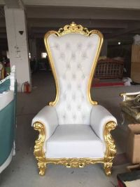 Different Color King Chair,Luxury Silver Trim Throne Chair ...