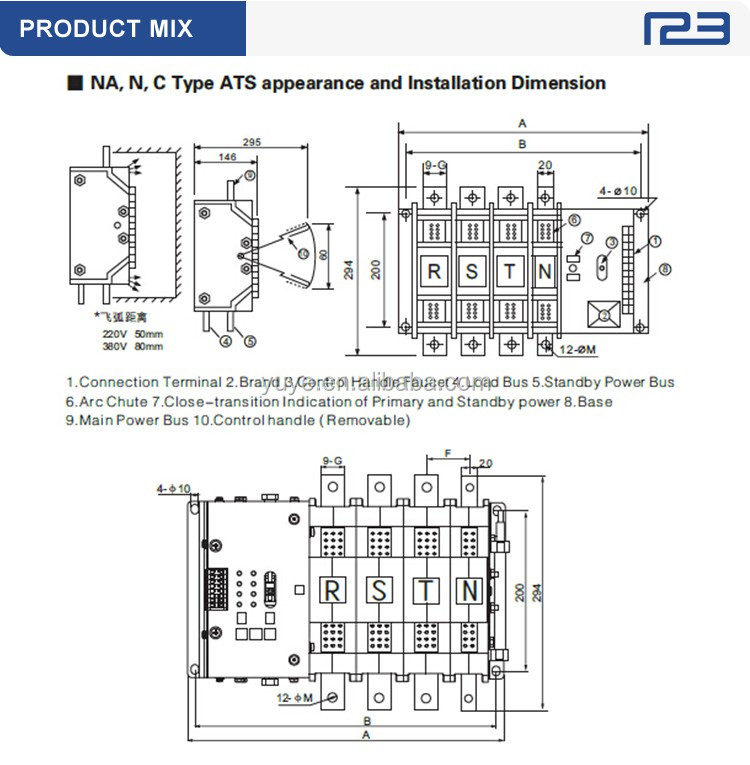 200A Automatic Transfer Switches ( ATS ), View automatic