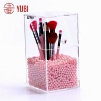 Acrylic Makeup Brush Holder With Lid - Buy Acrylic Brush ...