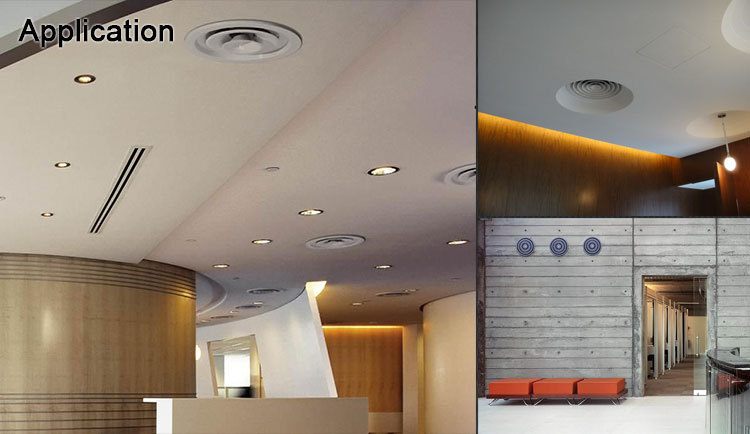 Air Conditioning Aluminum Vent Covers Round Ceiling