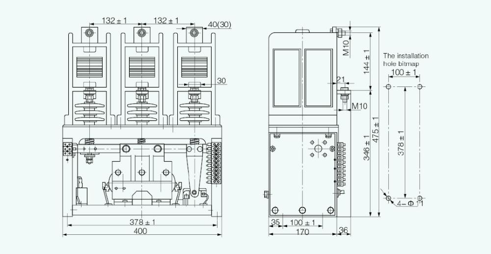 Ckg3 7.2kv 3 Phase Ac Contactor Hv Vacuum Circuit