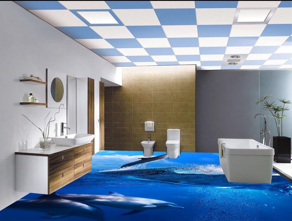 Digital 3d Inkject Picture Bathroom Tile Ceramic 3d Floor