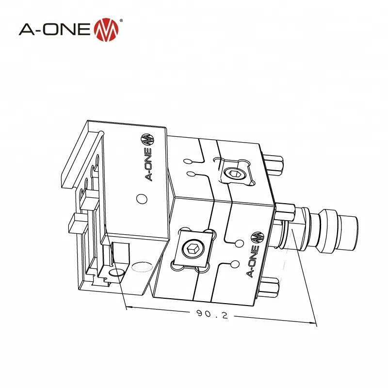 Erowa Rotatable Milling Machine Vise Vertex Hydraulic Vise