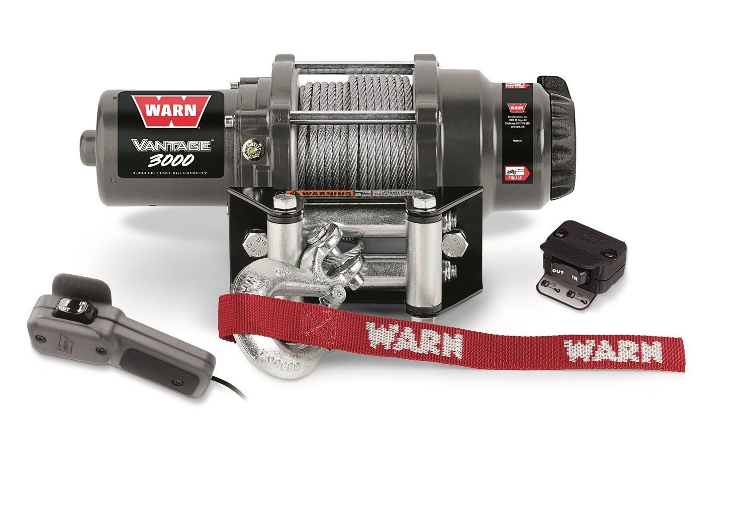 hight resolution of get quotations warn 99388 vantage 3000 winch 3000 lbs 1361 kg 12v permanent magnet motor 50