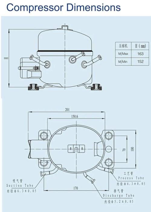 small resolution of 3 8hp e10g high quality refrigerator r134a freezer compressor