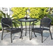 Round Outdoor Wicker Patio Furniture Set